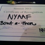 Bowl-a-thon award